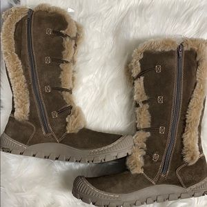 Earth Leather Faux Fur Lining Lodge 2 Caribou Boot